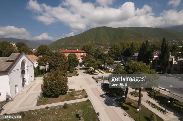 sheki town scene - azerbaijan stock pictures, royalty-free photos & images