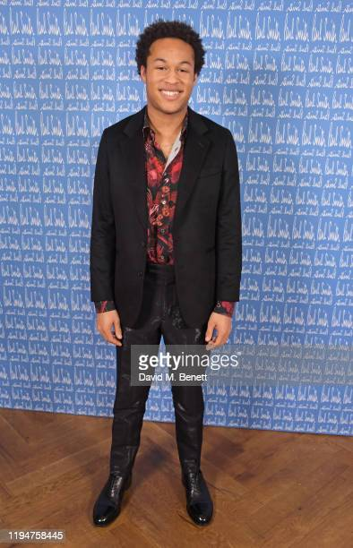 Sheku Kanneh-Mason wearing Paul Smith attends the Paul Smith AW20 50th Anniversary show as part of Paris Fashion Week on January 19, 2020 in Paris,...