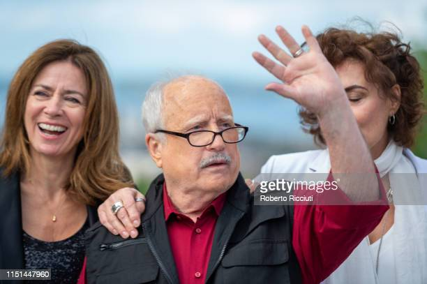 Shelagh McLeod Richard Dreyfuss and Mimi Kuzyk attend a photocall for the World Premiere of 'Astronaut' during the 73rd Edinburgh International Film...