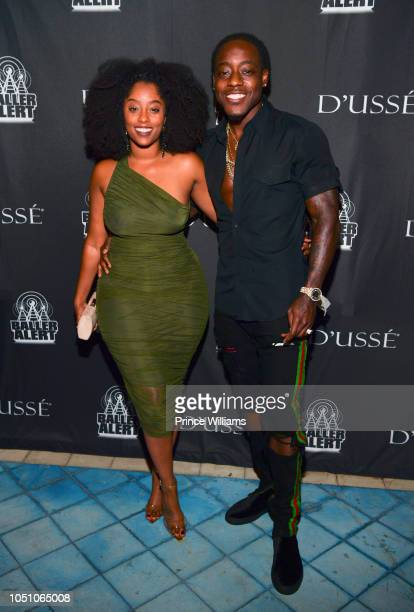 Shelah Marie and Ace Hood attend Baller Alert/Dusse Dinner series at Soho Beach House on October 6 2018 in Miami Beach Florida