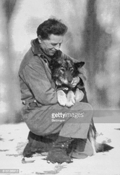 Leonhard Seppala and his dog Togo pictured shortly before their 300 mile dog sled trip to Nome Alaska in 1925 Togo was lead dog on the team which...