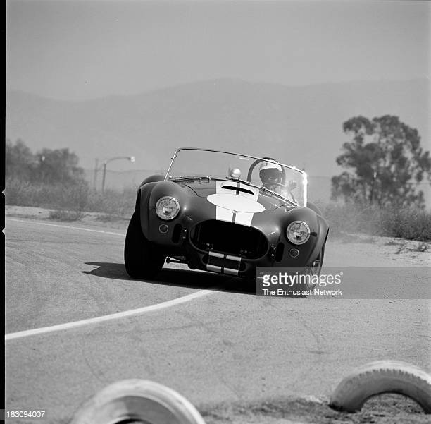 Shelby 427 Cobras Street Road Racing Two Shelby Cobras equipped with 427 Ford engines one for the street and the other for competition were tested at...