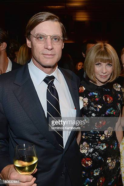 Shelby Bryan and Anna Wintour attend The Novak Djokovic Foundation New York Dinner at Capitale on September 10, 2013 in New York City.
