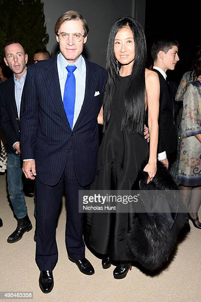 Shelby Bryan and Designer Vera Wang attend the 12th annual CFDA/Vogue Fashion Fund Awards at Spring Studios on November 2 2015 in New York City