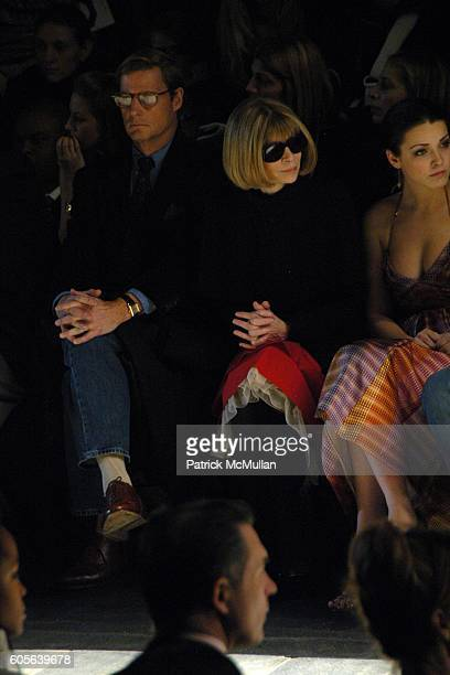 Shelby Bryan Anna Wintour and Bee Shaffer attend Zac Posen Fall2006 Fashion Show Front Row at The Tent at Bryant Park on February 9 2006