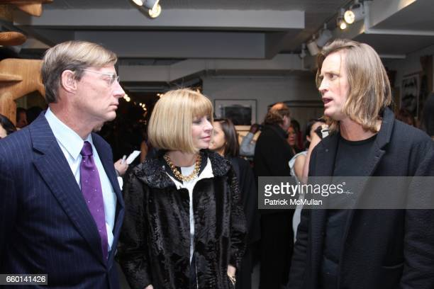 Shelby Bryan Anna Wintour and Russell James attend LISA FOX and THE HONORABLE JOHN OLSON AO AUSTRALIAN CONSUL GENERAL Present the NOMAD TWO WORLDS...