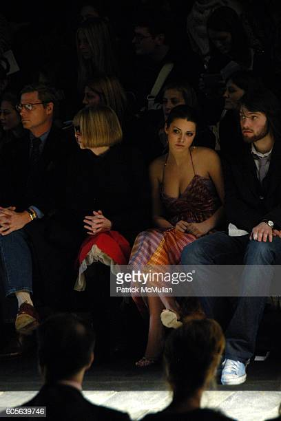 Shelby Bryan Anna Wintour Bee Shaffer and attend Zac Posen Fall2006 Fashion Show Front Row at The Tent at Bryant Park on February 9 2006