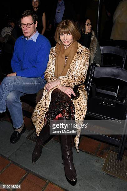 Shelby Bryan with editorinchief of American Vogue Anna Wintour attend the Alexander Wang Fall 2016 fashion show during New York Fashion Week at St...