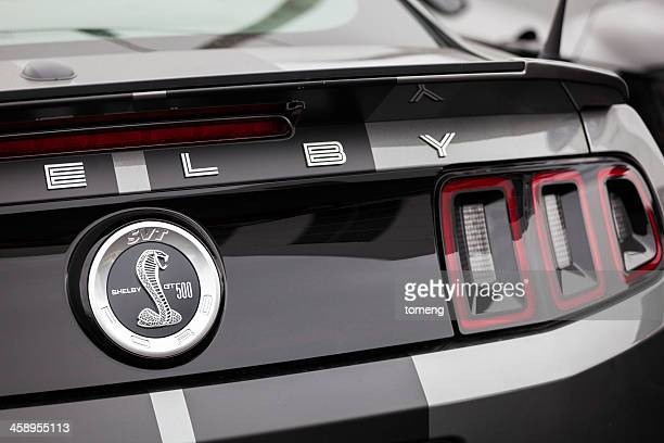 shelby gt500 rear badging - ford mustang stock photos and pictures