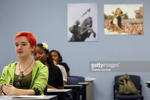 Shelby Hill attends a creative writing class for teenagers at UCF July 10 2012 UCF associate professor Terry Ann Thaxton is teaching middle and...