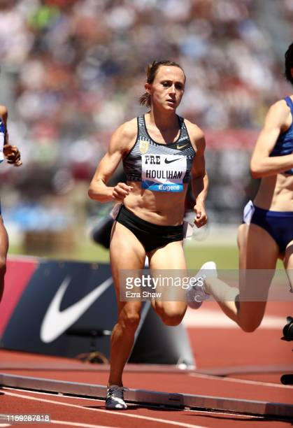 Shelby Houlihan of the United States competes in the women's 1500m during the Prefontaine Classic at Cobb Track & Angell Field on June 30, 2019 in...