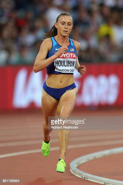 Shelby Houlihan of the United States competes in the Women's 5000 metres final during day ten of the 16th IAAF World Athletics Championships London...