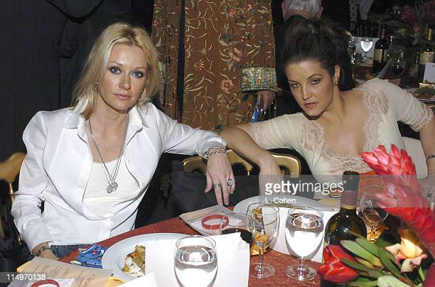 Shelby Lynne and Lisa Marie Presley during 2005 MusiCares Person of the Year Brian Wilson Backstage and Audience at Palladium in Hollywood California...