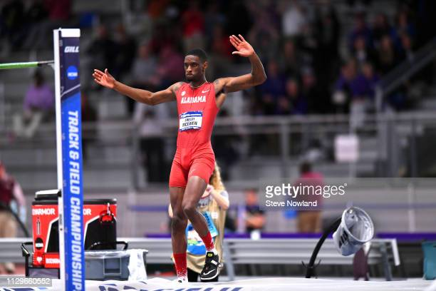 Shelby McEwen of Alabama clears the bar during the Division I Mens and Womens Indoor Track Field Championship held at the Birmingham CrossPlex on...