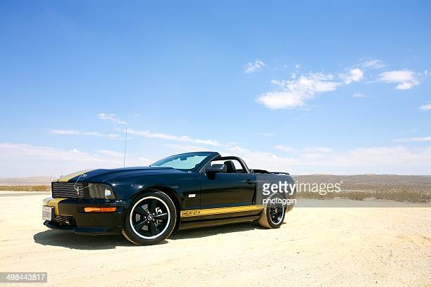 shelby mustang gt-h in desert scenery - ford mustang stock photos and pictures