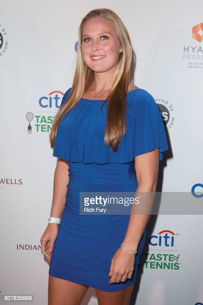 Shelby Rogers attends the Citi Taste of Tennis at Hyatt Regency Indian Wells Resort Spa on March 5 2018 in Indian Wells California