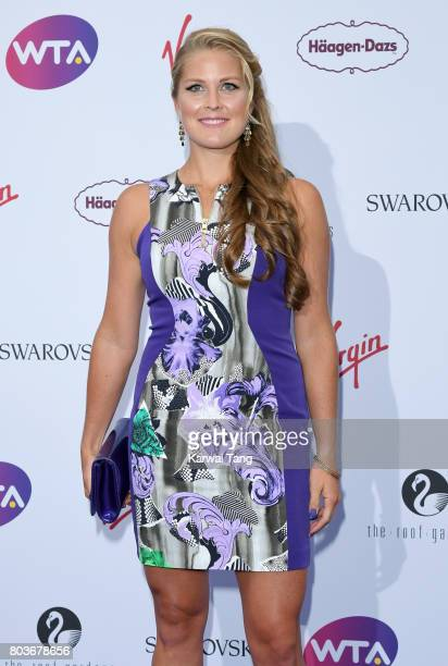 Shelby Rogers attends the WTA PreWimbledon party at Kensington Roof Gardens on June 29 2017 in London England