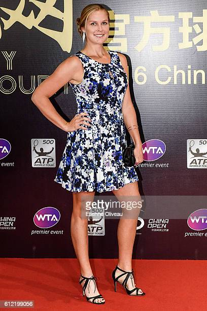 Shelby Rogers of the United States arrives at the 2016 China Open Player Party at The Birds Nest on October 3 2016 in Beijing China