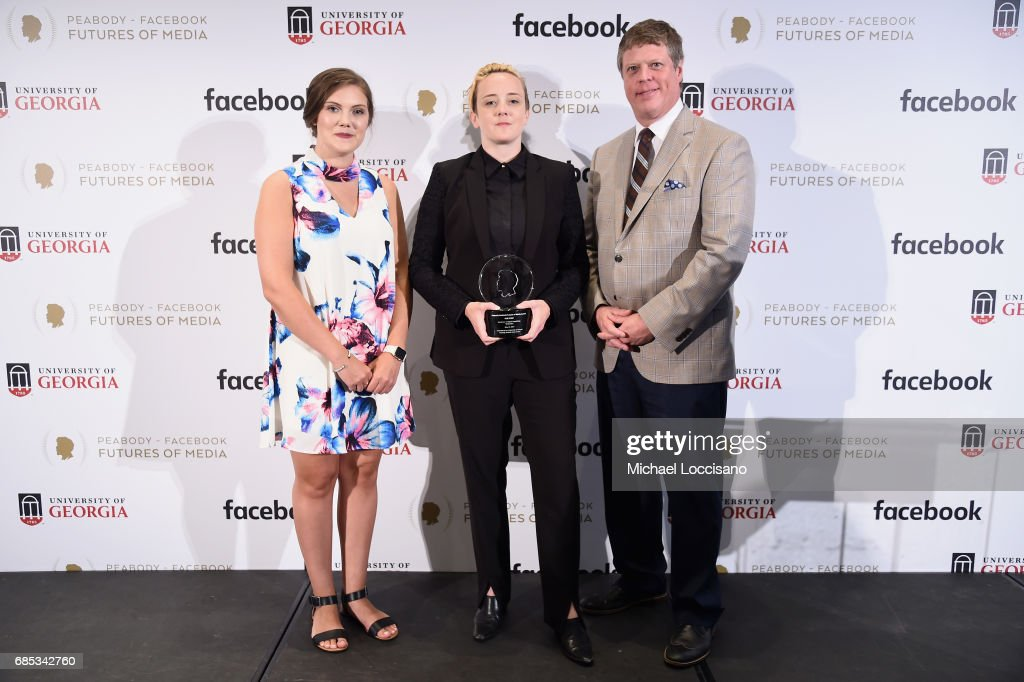 Shelby Silverman, Kate Fisher, and Peabody Awards Executive Director Jeffrey Jones attend the Peabody-Facebook Futures Of Media Awards at Hotel Eventi on May 19, 2017 in New York City.