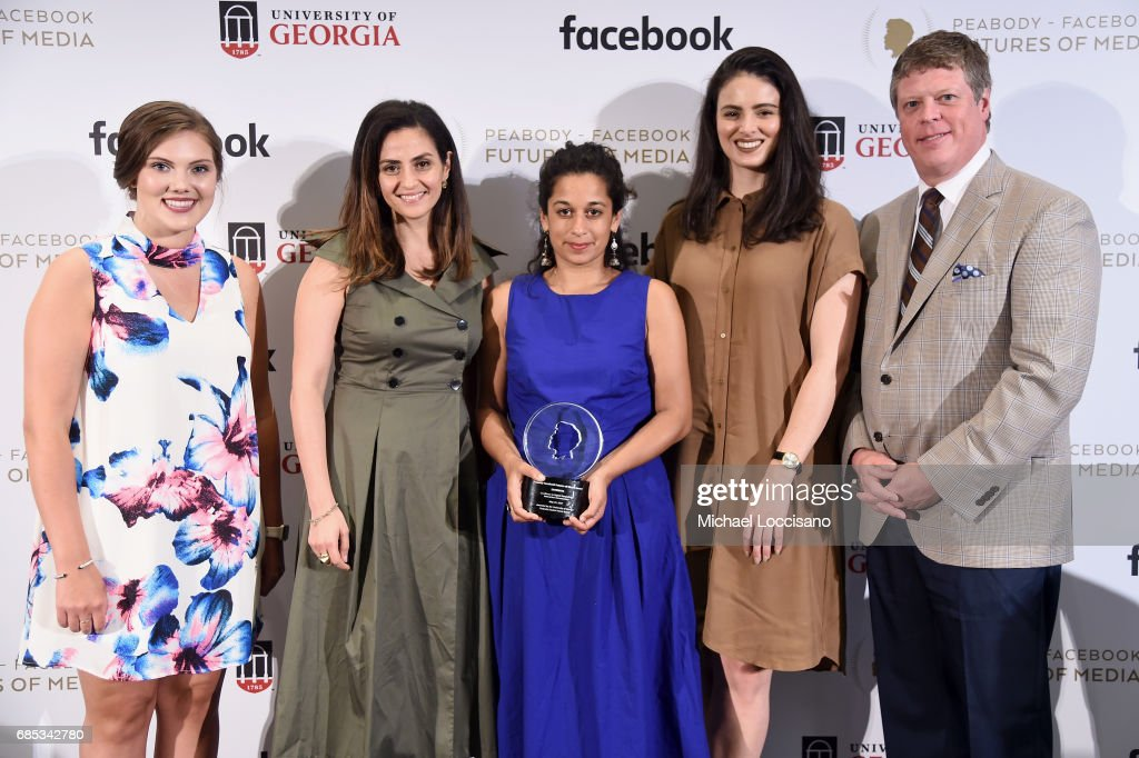 Shelby Silverman, Sherine Tadros, Ana Naomi de Sousa, Sarah Nankivell and Peabody Awards Executive Director Jeffrey Jones attend the Peabody-Facebook Futures Of Media Awards at Hotel Eventi on May 19, 2017 in New York City.