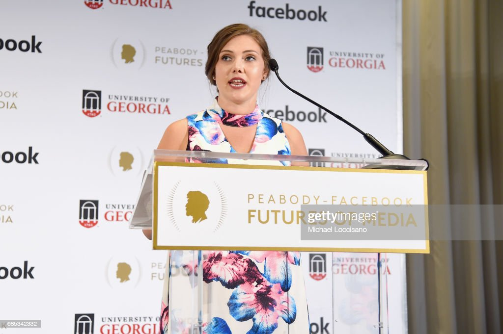 Shelby Silverman speaks onstage at the Peabody-Facebook Futures Of Media Awards at Hotel Eventi on May 19, 2017 in New York City.