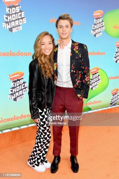 Shelby Simmons and Jace Norman attend Nickelodeon's 2019 Kids' Choice Awards at Galen Center on March 23 2019 in Los Angeles California