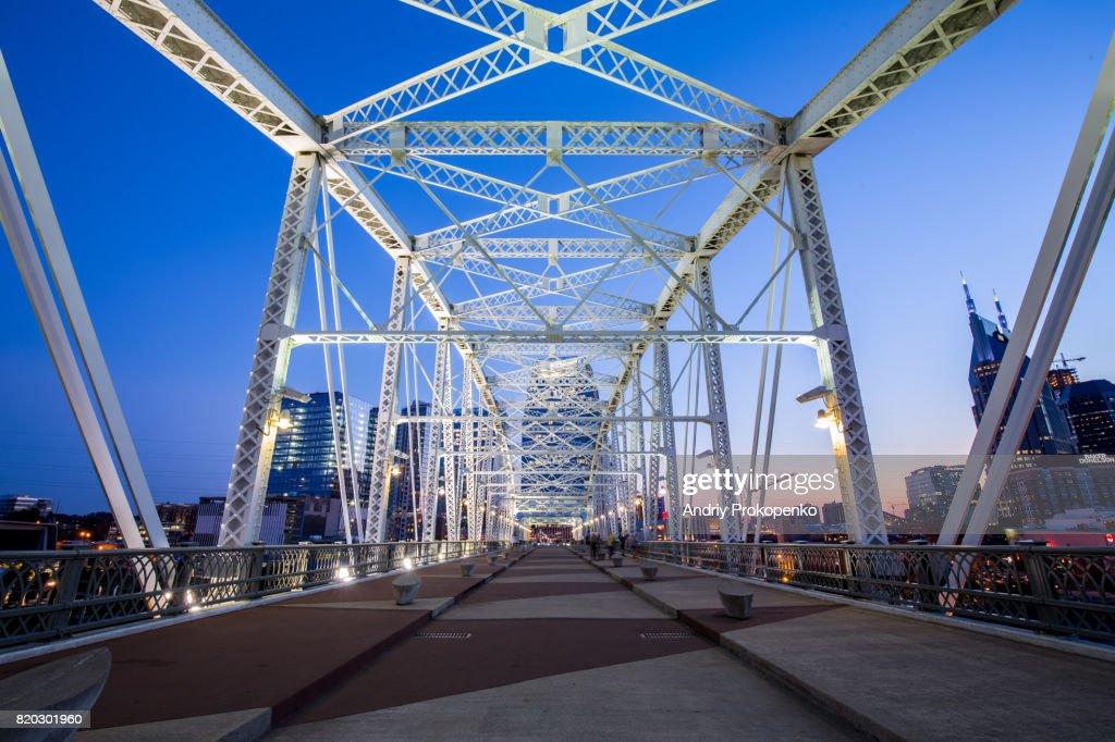 Shelby Street Pedestrian Bridge in Nashville, Tennessee, USA : Stock Photo