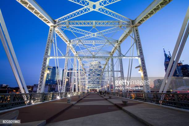 Shelby Street Pedestrian Bridge in Nashville, Tennessee, USA