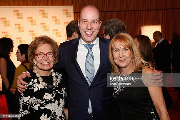 Shelby White Anthony Romero and Executive Director Donna McKay attend the 2016 Physicians For Human Rights Gala at Jazz at Lincoln Center on April 18...
