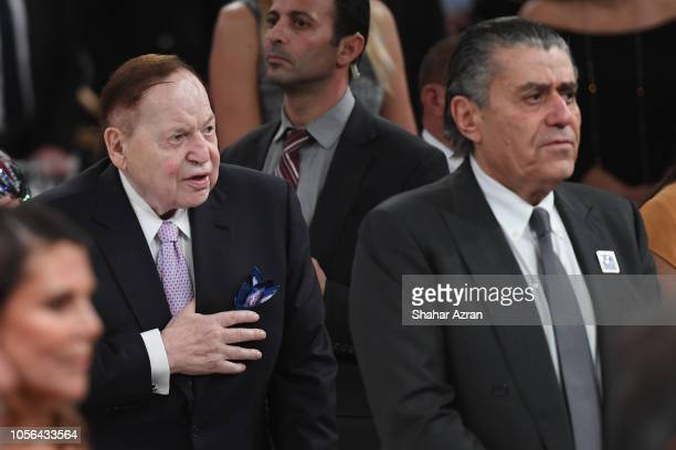 Sheldon Adelson and Haim Saban attend Friends of The Israel Defense Forces Western Region Gala at The Beverly Hilton Hotel on November 1 2018 in...