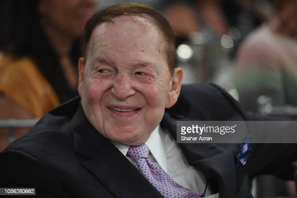 Sheldon Adelson attends Friends of The Israel Defense Forces Western Region Gala at The Beverly Hilton Hotel on November 1 2018 in Beverly Hills...