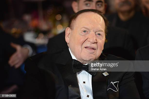 Sheldon Adelson attends the 2016 Friends Of The Israel Defense Forces Gala at The Waldorf Astoria on March 15 2016 in New York City