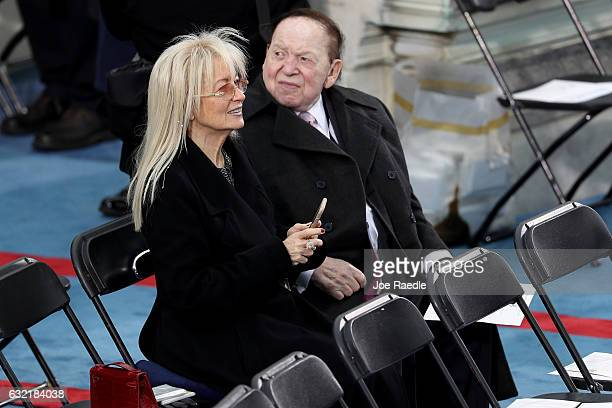 Sheldon Adelson sits on the West Front of the US Capitol on January 20 2017 in Washington DC In today's inauguration ceremony Donald J Trump becomes...