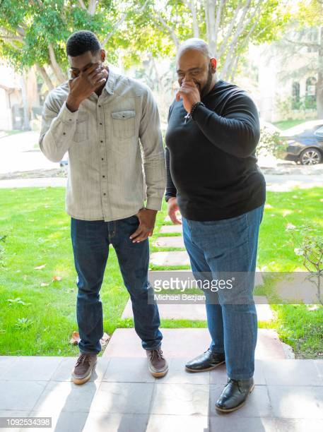 Sheldon Bailey and Bubba Ganter at Giveback Day at TAP The Artists Project on January 10 2019 in Los Angeles California