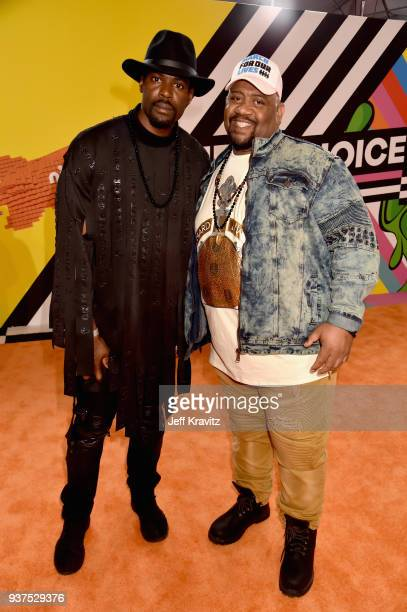 Sheldon Bailey and Bubba Ganter attend Nickelodeon's 2018 Kids' Choice Awards at The Forum on March 24 2018 in Inglewood California