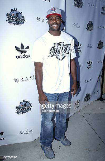 Sheldon Bailey arrives at the She Cares Foundation's 3rd Annual She Cares Celebrity Basketball Game at Edward Roybal Federal Plaza on August 25 2012...