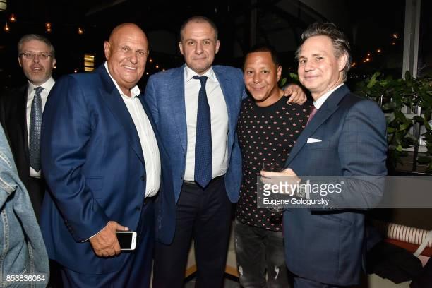 Sheldon Brody, Ronn Torossian, Keenan Town and Jason Binn attend the celebration of DuJour's fall cover star Uma Thurman at The Magic Hour at Moxy...