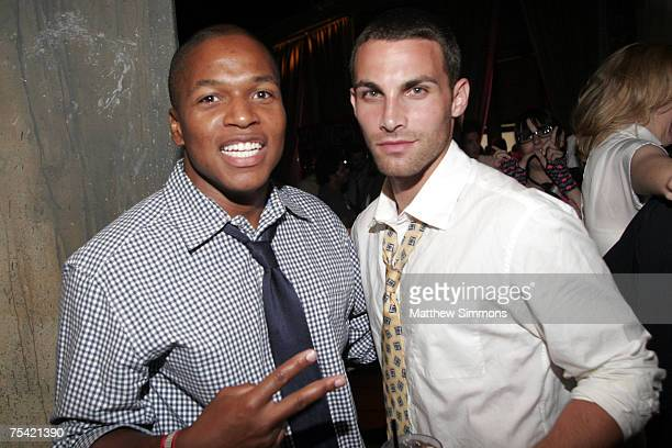 Sheldon Candis and Erik Fellows attends the Hard C High School Dance at the Loft at The Highlands on July 14 2007 in Hollywood California