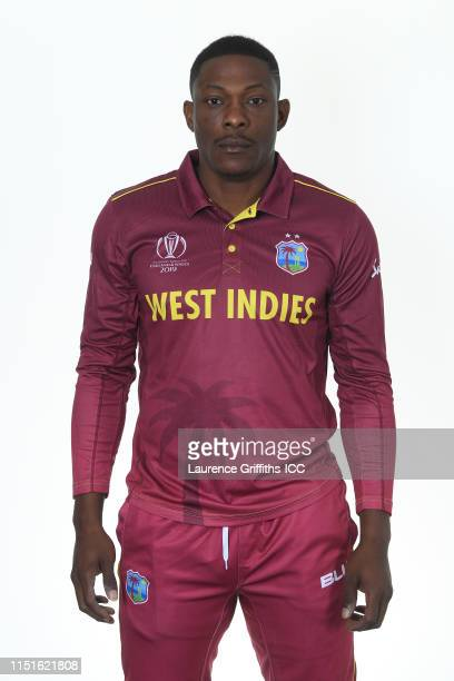 Sheldon Cottrell of West Indies poses for a portrait prior to the ICC Cricket World Cup 2019 at The Radisson Blu Hotel on May 25, 2019 in Bristol,...