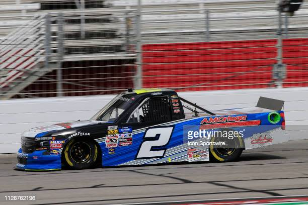 Sheldon Creed GMS Racing Chevrolet Silverado AM Ortega/United Rentals during practice for the Ultimate Tailgating 200 NASCAR Gander Outdoors Truck...
