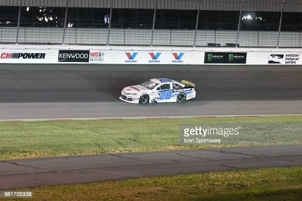 Sheldon Creed of Alpine CA driving a Toyota for United Rentals on turn number one during the ARCA Racing Series PapaNicholas Coffee 150 on June 22 at...