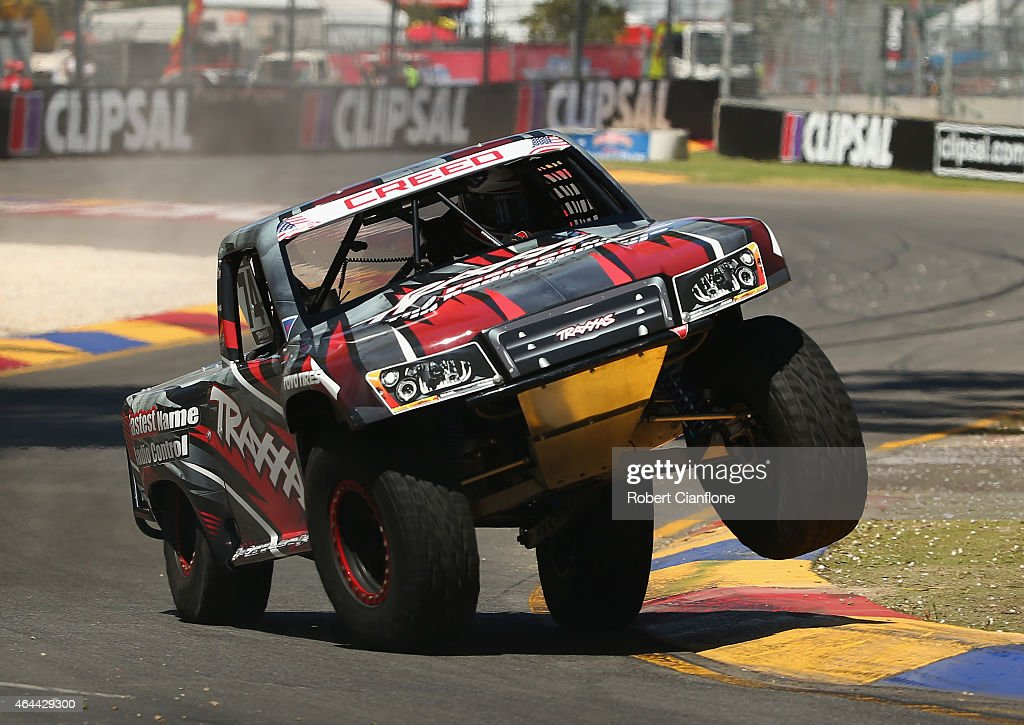 Sheldon Creed of the USA competes during the Stadium Super Trucks Series ahead of the V8 Supercars Clipsal 500 at Adelaide Street Circuit on February 26, 2015 in Adelaide, Australia.