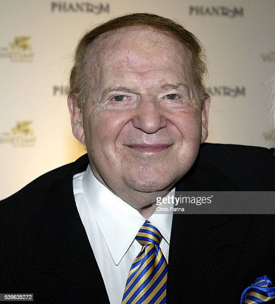 Sheldon G Adelson Chairman of the Board of the Venetian attends the opening night gala of Phantom The Las Vegas Spectacular at the Venetian Resort in...