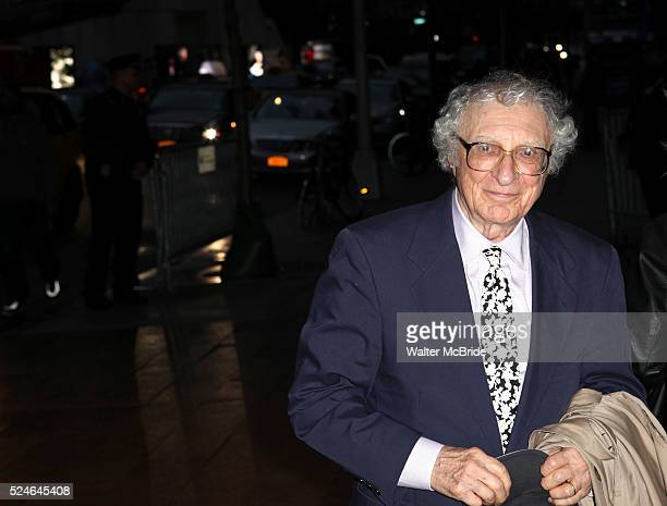 Sheldon Harnick attending the Memorial To Honor Marvin Hamlisch at the Peter Jay Sharp Theater in New York City on 9/18/2012