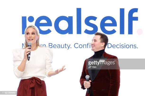 Sheldon Larson CMO of Aesthetics Biomedical announces Molly Sims as brand ambassador for SoME™ Skincare That's All You at The House of Modern Beauty...