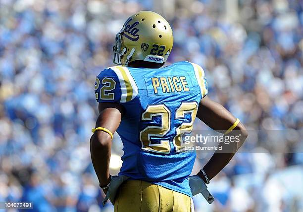 Sheldon Price of the UCLA Bruins looks on during the game against the Washington State Cougers at The Rose Bowl on October 2 2010 in Pasadena...