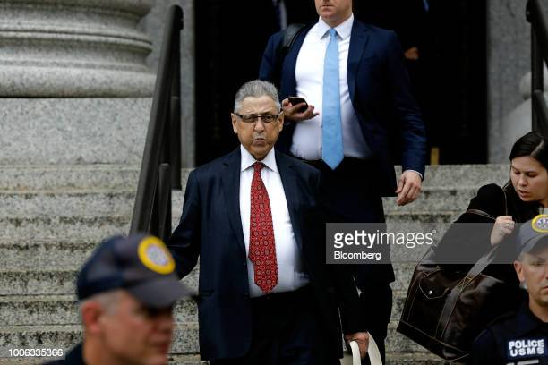 Sheldon Silver former speaker of the New York State Assembly exits from federal court in New York US on Friday July 27 2018 Geoffrey Berman the US...