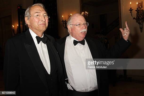 Sheldon Solow and Michael Steinhardt attend Institute of Fine Arts 75th Anniversary Dinner Honoring Shedon H Solow at Institute of Fine Arts on May...