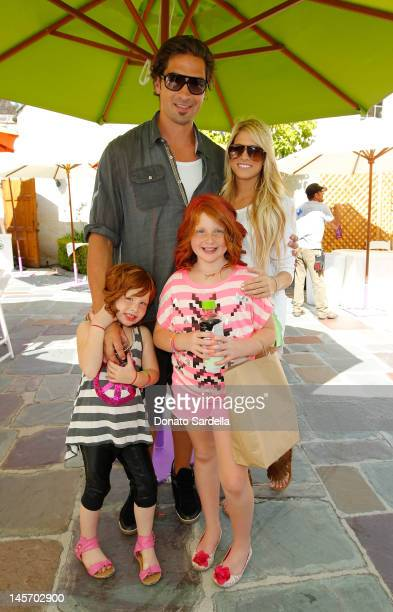 Sheldon Souray Barbie Blank and kids attend 6th Annual Kidstock Music And Arts Festival Sponsored By Hudson Jeans at Greystone Mansion on June 3 2012...