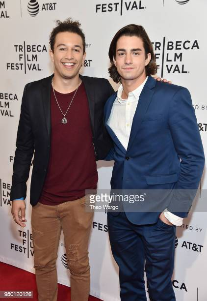 Sheldon White and Andrew Kai attend a screening of All About Nina during the 2018 Tribeca Film Festival at SVA Theatre on April 22 2018 in New York...